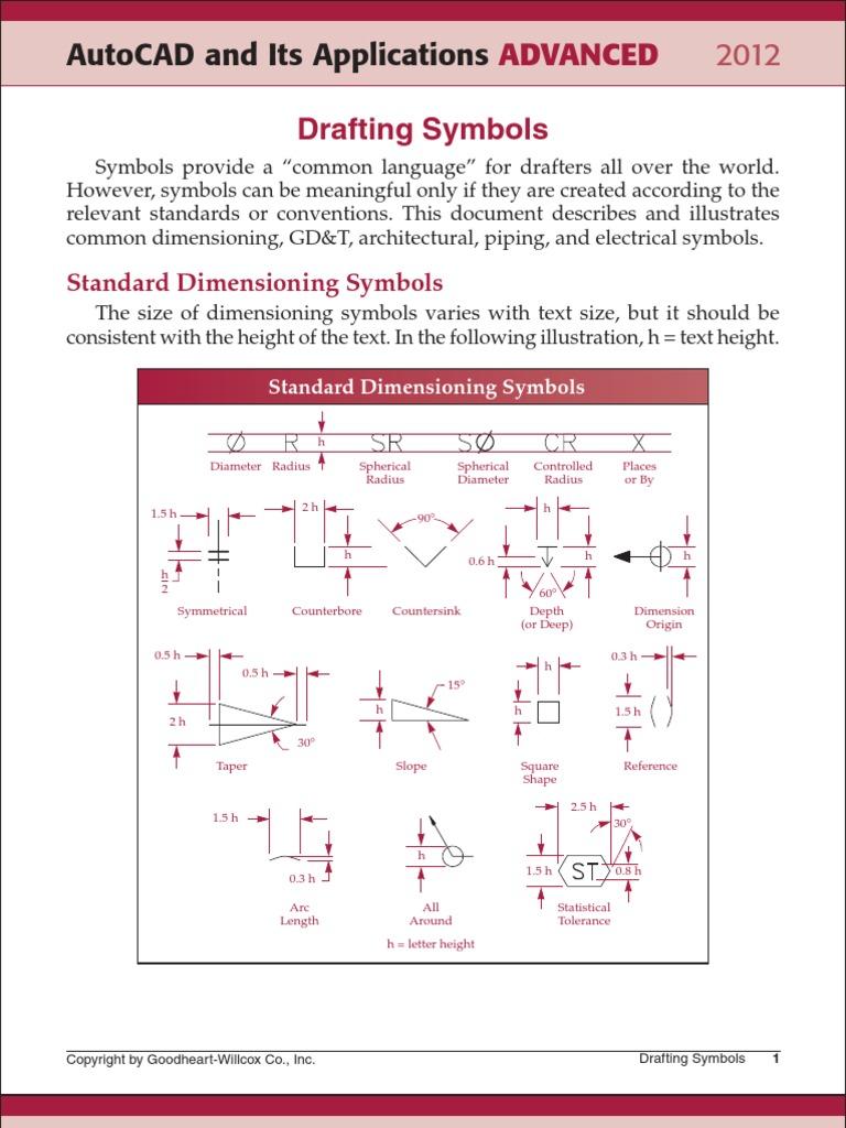 Architectural Drafting Symbols Pdf