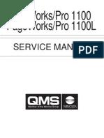 Konica Minolta QMS Pagepro 1100 Service Manual