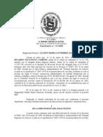 Sentencia TSJ Caso David Uzcategui