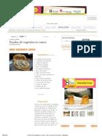 Fondue de Vegetales en Canoa - 8vo Concurso de Cocina - Estampas