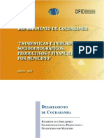 IndicadoresSociodemograficosProductivosFinancierosCochabamba
