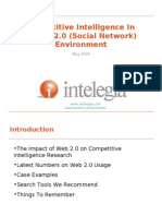 Competitive Intelligence in a Web 2.0 Environment