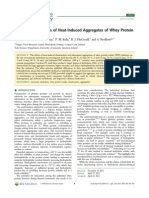 Enzymatic Hydrolysis of Heat Induce Aggregates of Whey Protein