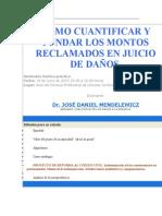 COMO CUANTIFICAR Y FUNDAR LOS MONTOS RECLAMADOS EN JUICIO DE DANOS.doc