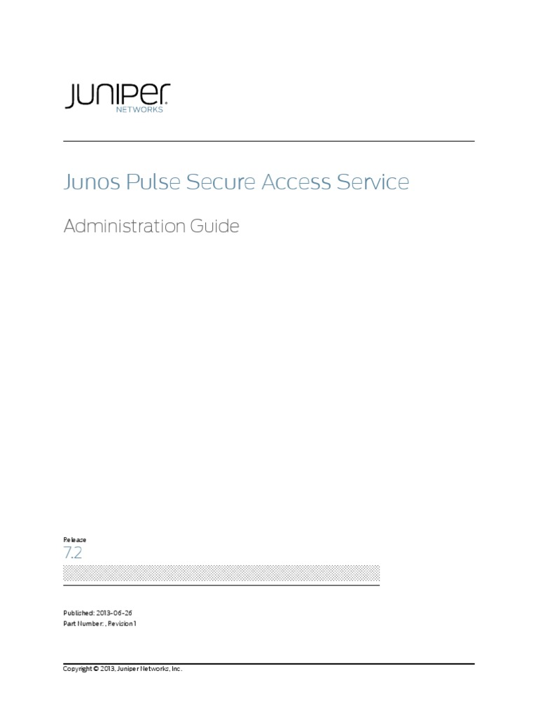 Junos Pulse Secure Access | Active Directory | Radius
