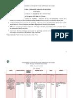 Programa de trabajo. Curso_evaluación