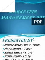 Marketing Mgt Ppt