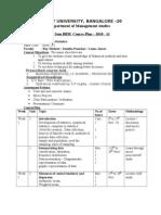 Business Statistics Courseplan