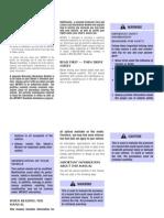 1999 Infiniti G20 Owner's Manual