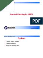 Aircom Nominal Planning for UMTS