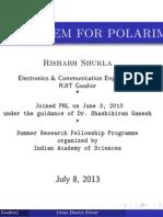 Control System for Polarimeter_Rishabh