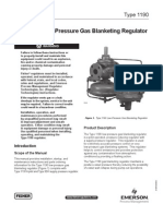 Fisher 1190 Low-Pressure Gas Blanketing Regulator