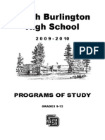 South Burlington High School Program of Studies 2009