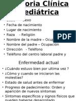 Historia Clinica Pediatra