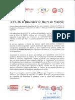 Comunicado Metro