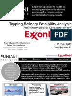 Puniani, Arjan Singh - CBE160 Topping Refinery Proposal