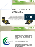 Desastres Petroleros en Colombia