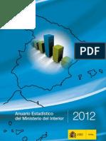 Anuario estadístico Ministerio del Interior (2012)