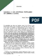 García Canclini. Gramsci