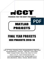 2013 IEEE Matlab Project Titles, NCCT - IEEE 2013 Matlab Project List