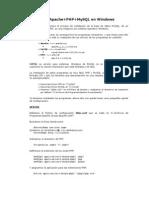Manual de PHP (Soporte Apache y MySQL)