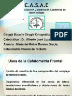 Cefalometría Frontal . Cx. Bucal y Cx. Ortognática.
