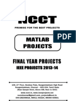 2013 IEEE Matlab Project Titles, NCCT - IEEE 2013 Matlab Project List