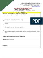 Formulario y bases de participación GUANACASTEARTE 2013