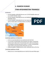 Special Article on India-pakistan-Afghanistan Triangle