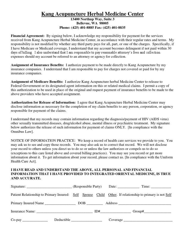 Financial Agreement Medicare United States Insurance