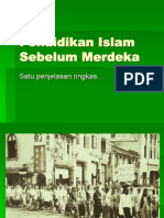 Pismp Pengenalan Kurikulum 2 2010 Pendidikan Islam Sebelum Merdeka