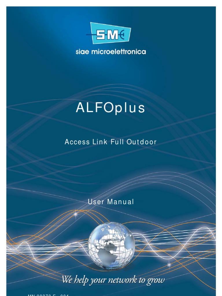 SIAE ALFOplus_User Manual Cod. MN00273E_Ediz.004 Ok | Electrical ...