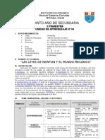 undad de aprendizaje 4 - 2013 -  5TO año Cta III TRIMESTRE 2012 las leyes de newton