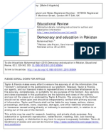 Democracy and Education in Pakistan