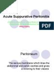 Acute Suppurative Peritonitis