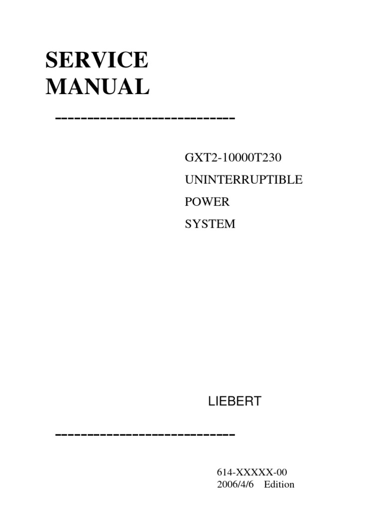 Gxt2 10000t230 Service Manual Power Inverter Supply Mean On Can39t Read Any Voltage Using A Dvm The Plug