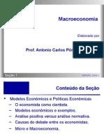 Macroeconomia - Secao 01 - Modelos Econômicos e Políticas Econômicas