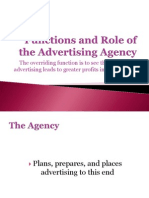 Functions and Role of the Advertising Agency