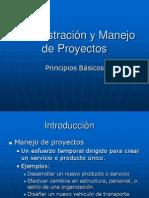 ADMINISTRACION de PROYECTOS - Administracion y Manejo de Proyectos - Principios Basicos