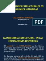 CONFERENCIA EN Lhttps://es.scribd.com/word/document_edit/157053790/permissionA XX JORNADAS DE INGENIERIA ESTRUCTURAL ECUADOR  - INTERVENCIONES ESTRUCTURALES EN EDIFICACIONES HISTÓRICAS
