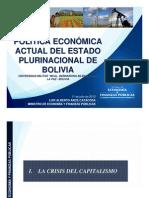 Politica Economic a Actual Bolivia