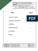 EJEMPLO PROCEDIMIENTO Actualización y registro de activos fijos ININ