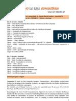 Programação Visita Marujá - dias  26 e 27 de maio