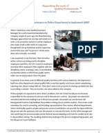 Do you need Quality Assurance or Police Department to implement QMS?