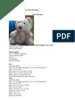Polar bear crochet