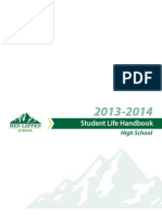 2013-2014 Ben Lippen High School Student Life Handbook