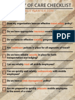Duty of Care Checklist