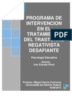 Programa de Intervención TND