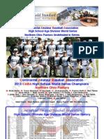 2013 - CABA 17U/HS World Series - Fall News