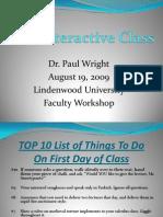 Interactive Class Presentation